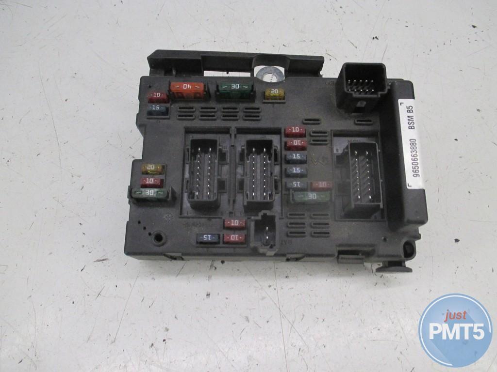 ... Fuse box PEUGEOT 206 2001 (9650663880, 9650663880BSMb5), ...