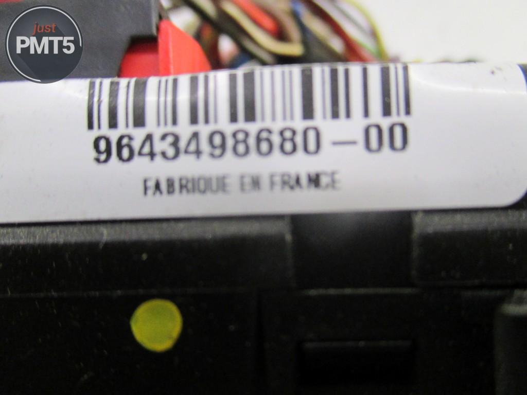 ... Fuse box CITROEN C3 2003 (9636079380), 11BY1-9488